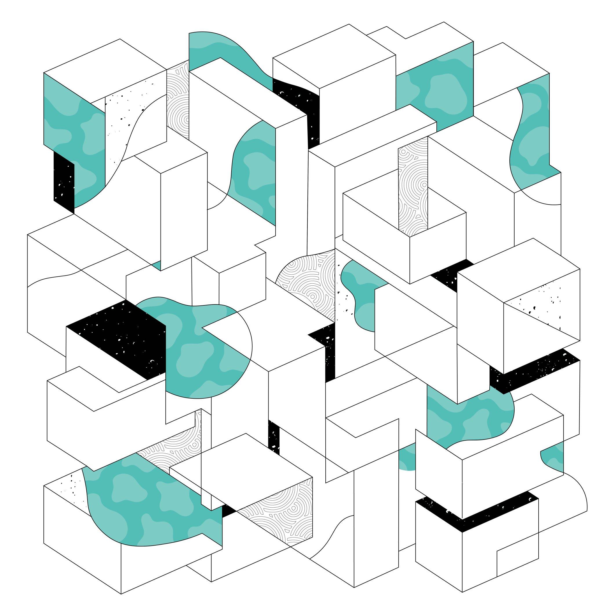Untitled Geometric - blue  (DIY)
