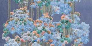 Cactus Forest-Slate Blue